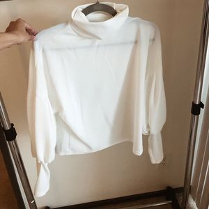 White Turtle Neck Blouse